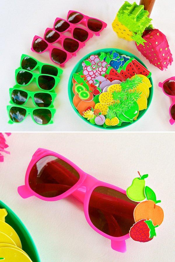 fruit decorated sunglasses