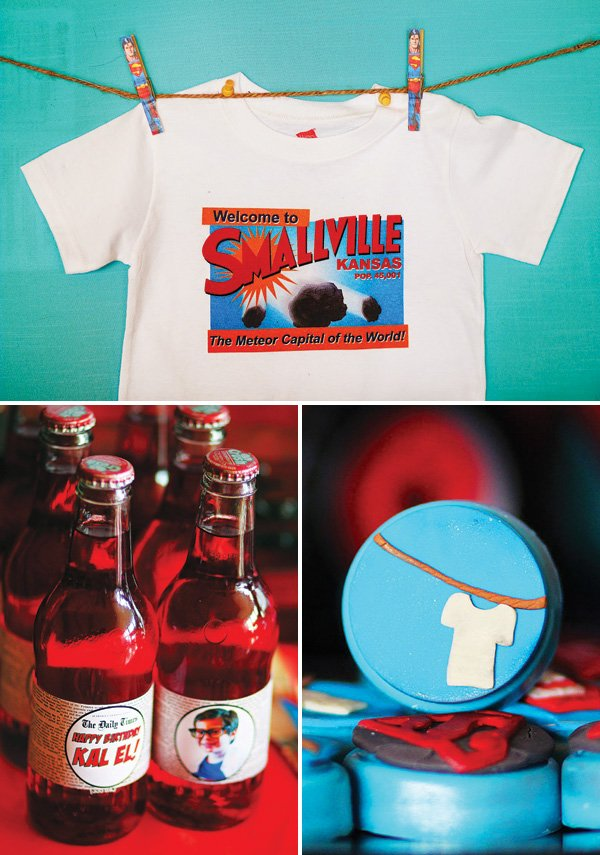 smallville birthday party decor and ideas