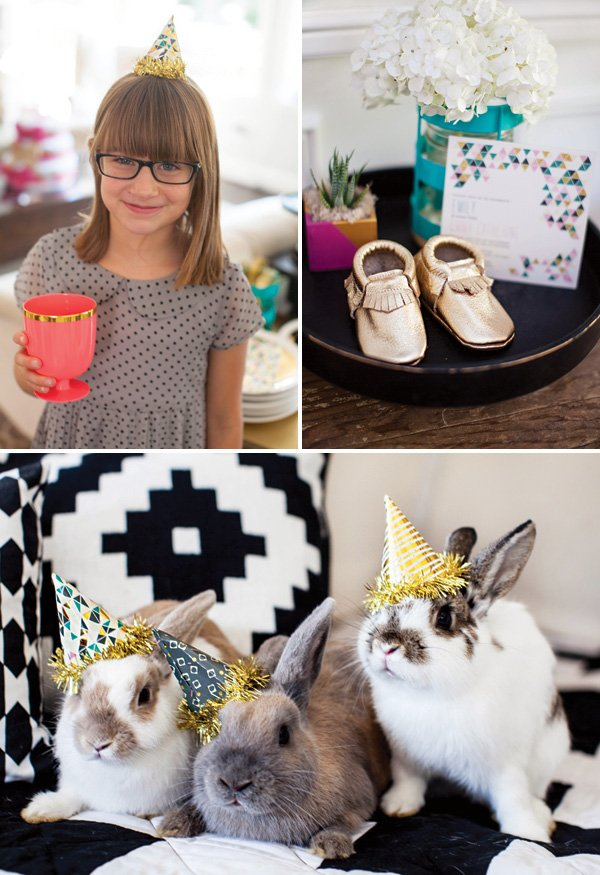 mini gold party hats
