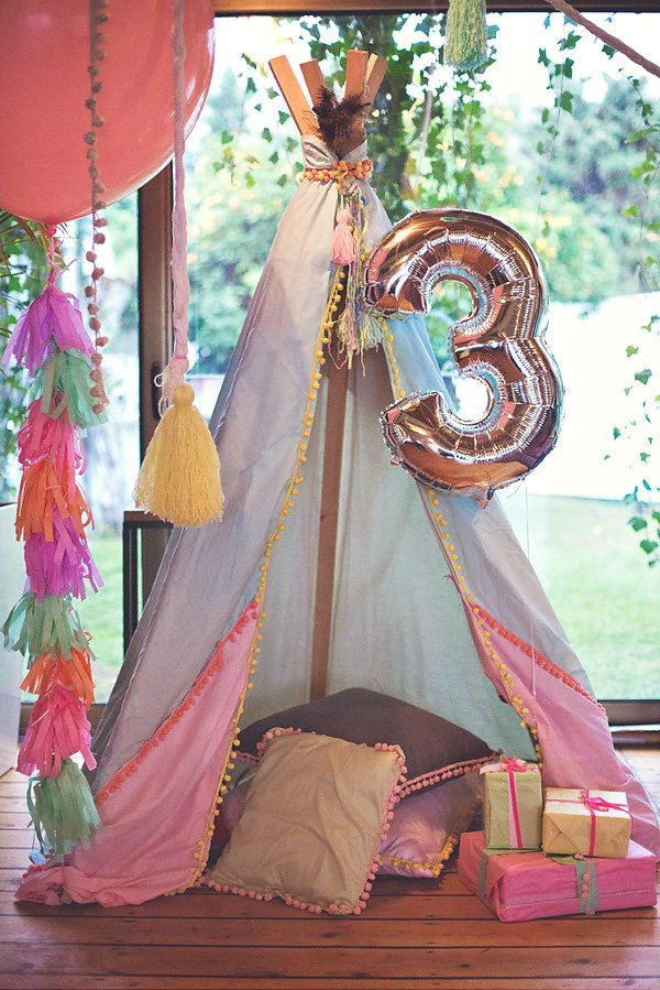 boho chic tee-pee party tent