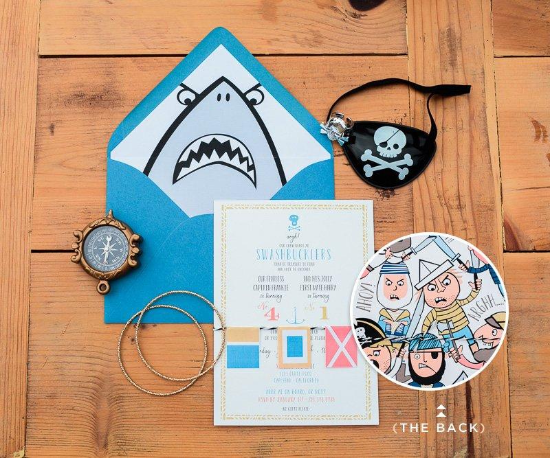 modern pirate party invitation