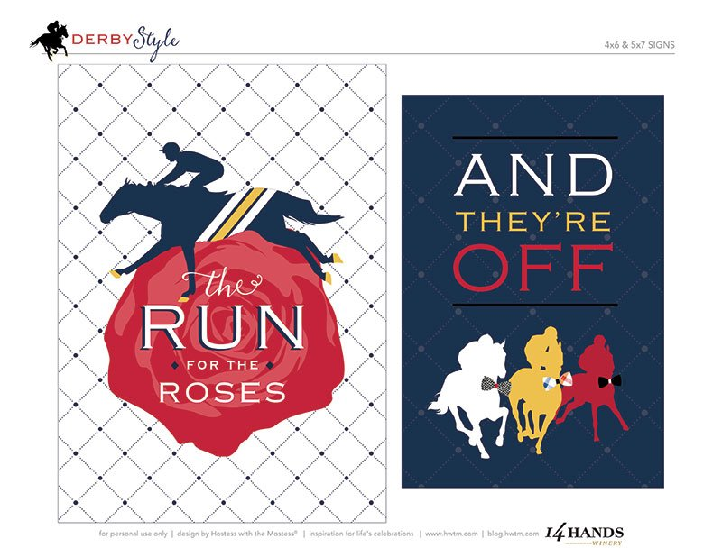 This is an image of Rare Kentucky Derby Printables