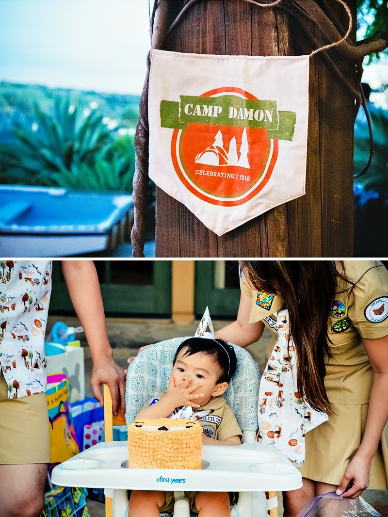 camping theme first birthday