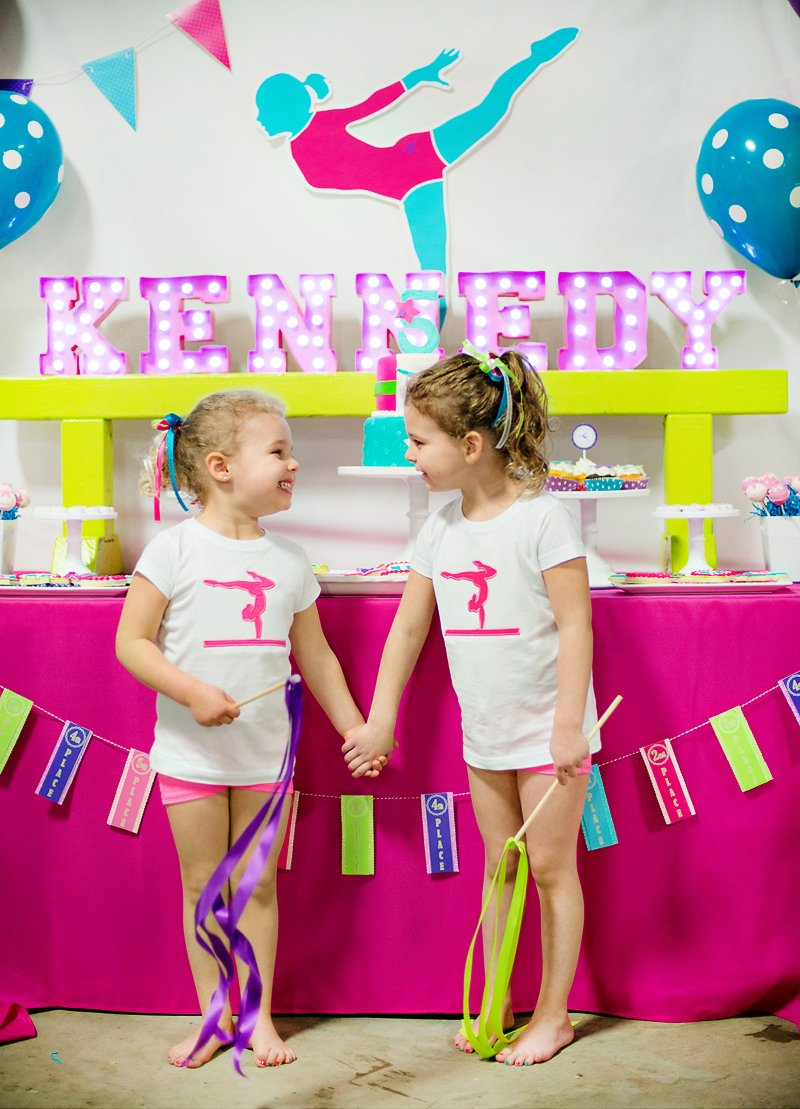 Bright Amp Coloful Gymnastics Birthday Party Hostess With