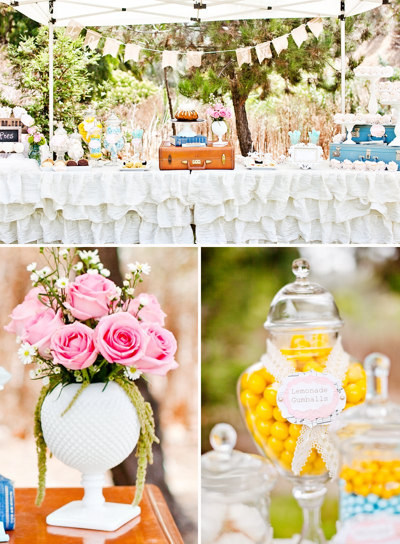vintage wedding dessert bar