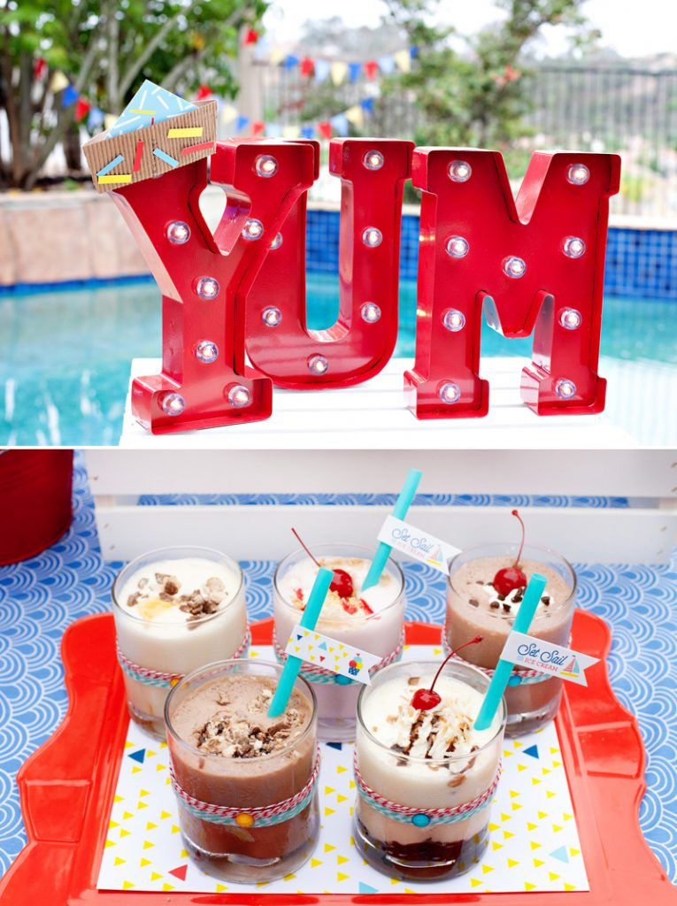 red marquee letters and nautical milkshakes