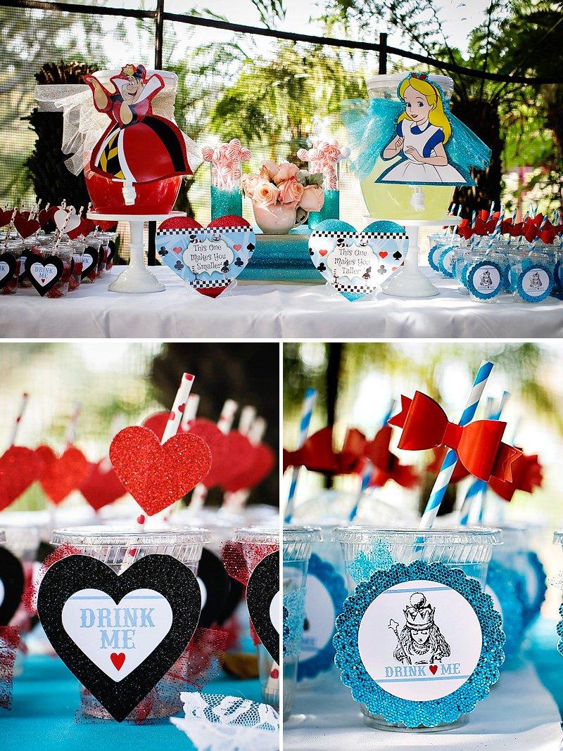 alice in wonderland drinks and queen of hearts drinks