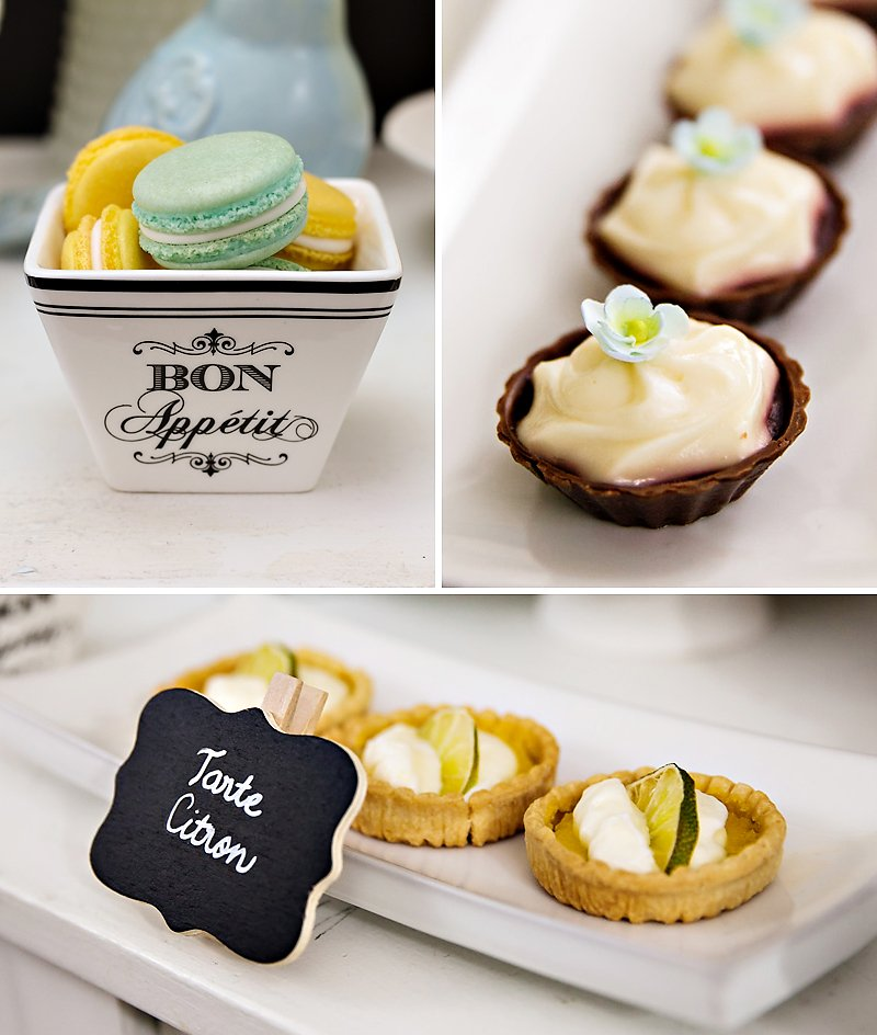Paris style dessert table pastries