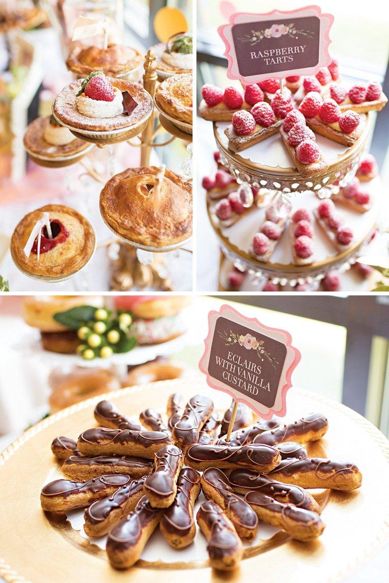 french inspired wedding desserts