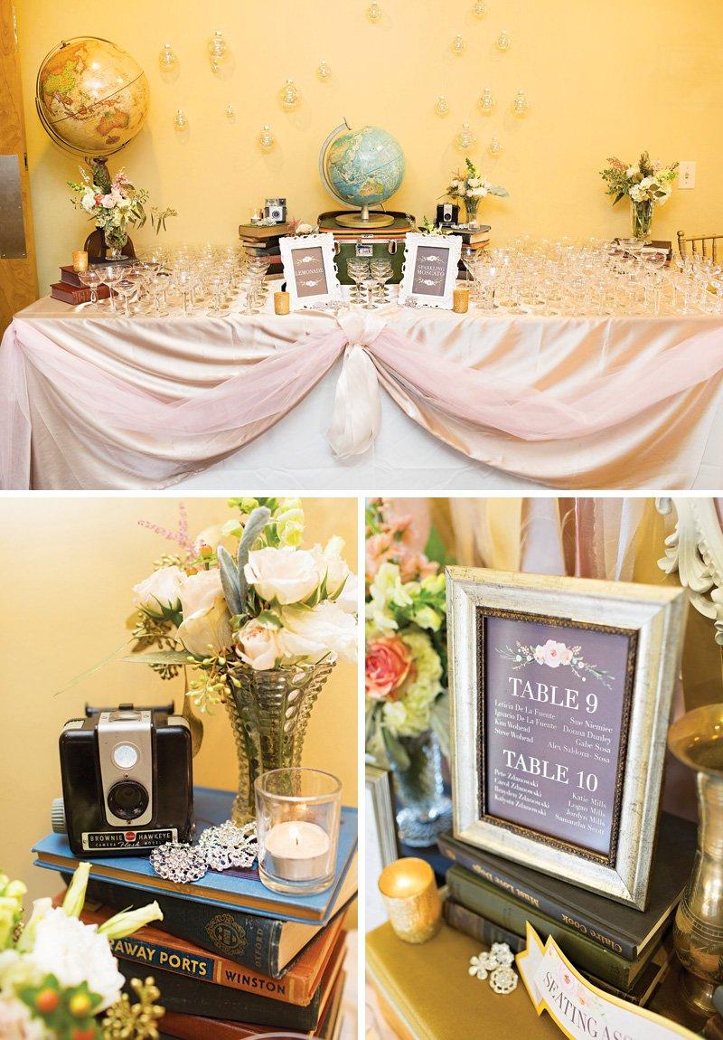 travel themed wedding decor