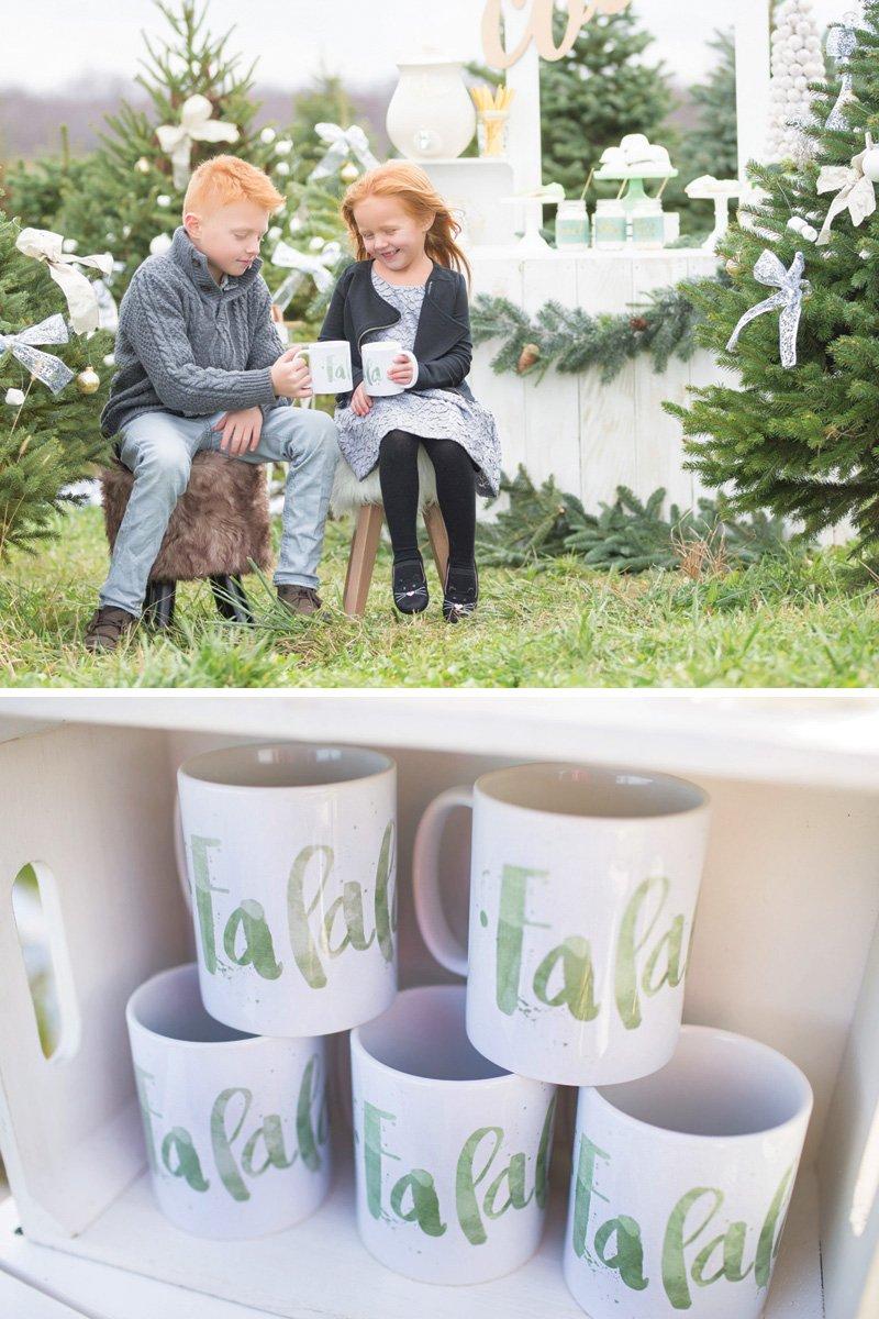 christmas themed cocoa mugs