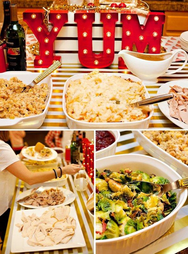 Christmas Party Dinner Buffet