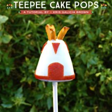 How to make Teepee Cake Pops - DIY Tutorial