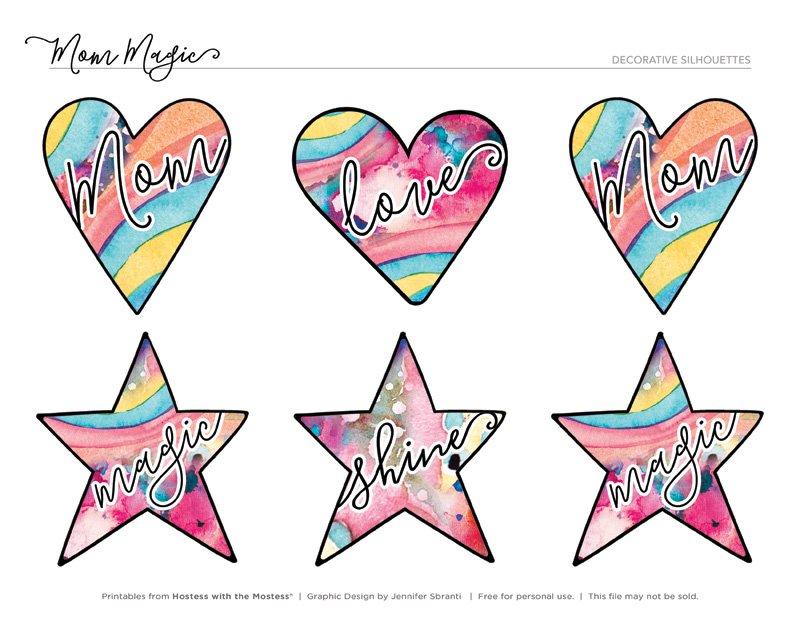 Mom Magic Printables from HWTM - Heart and Star Gift Tags