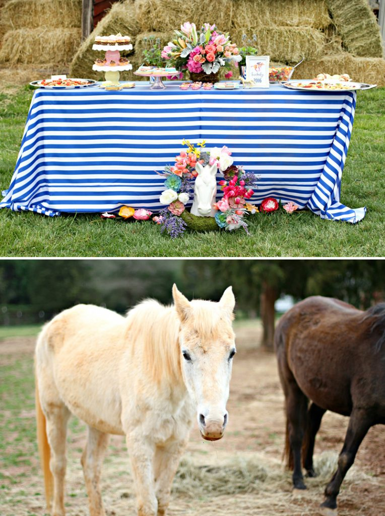 Kentucky Derby Dessert Table and Horses