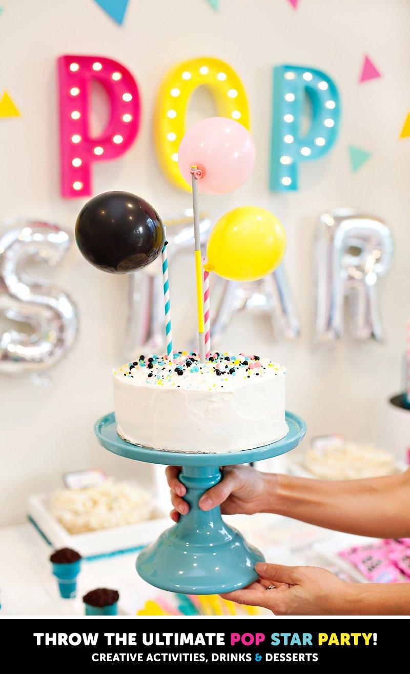 Modern Pop Star Birthday Cake Topper