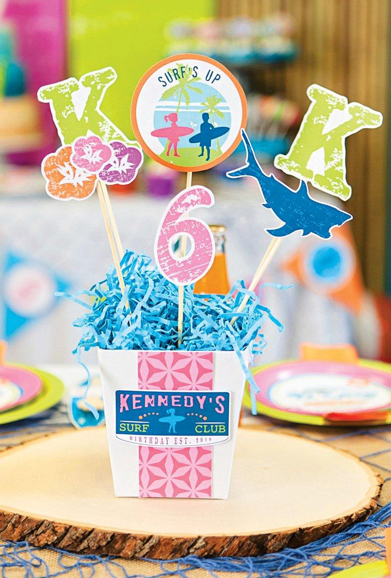 beach themed table centerpieces