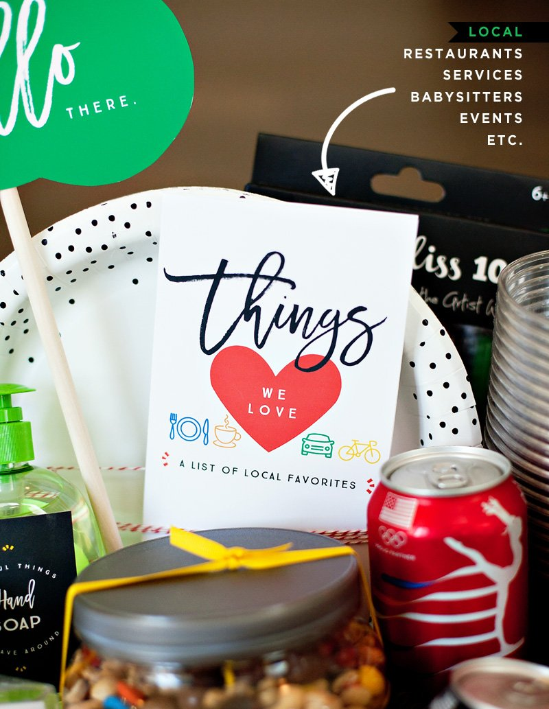 Free Printable Things We Love Template for new neighbors