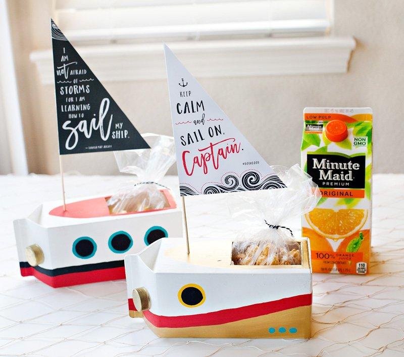 diy juice carton sailboats