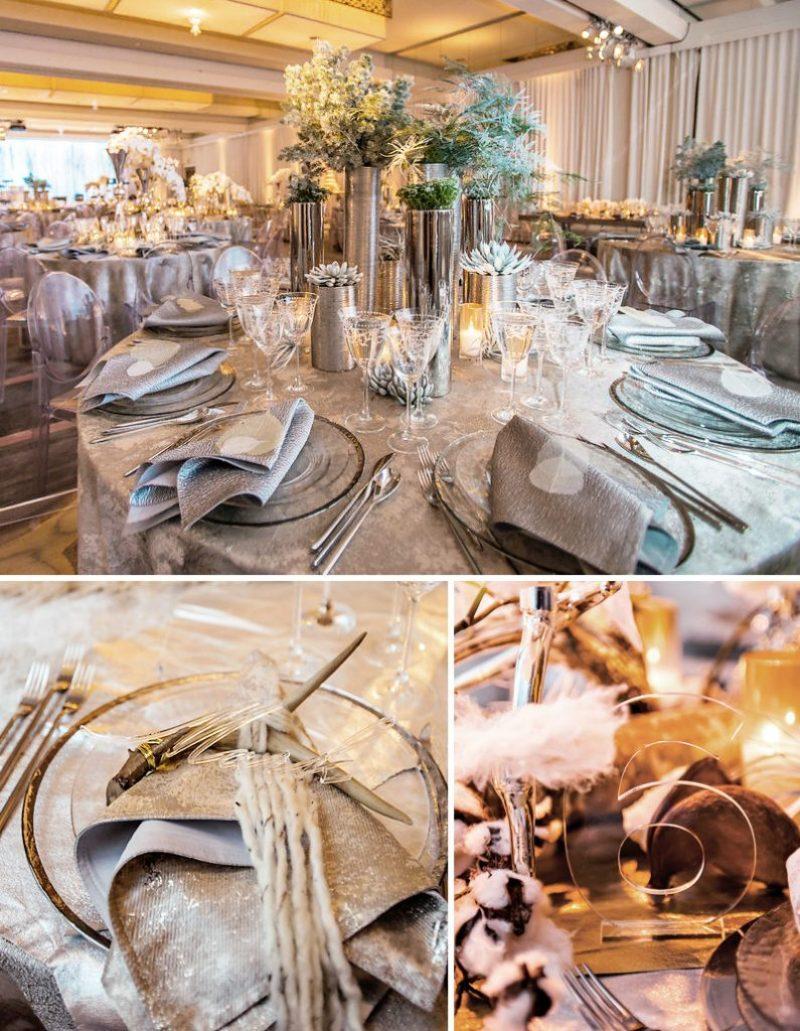 Winter Wonderland Holiday Wedding with Mixed Metals