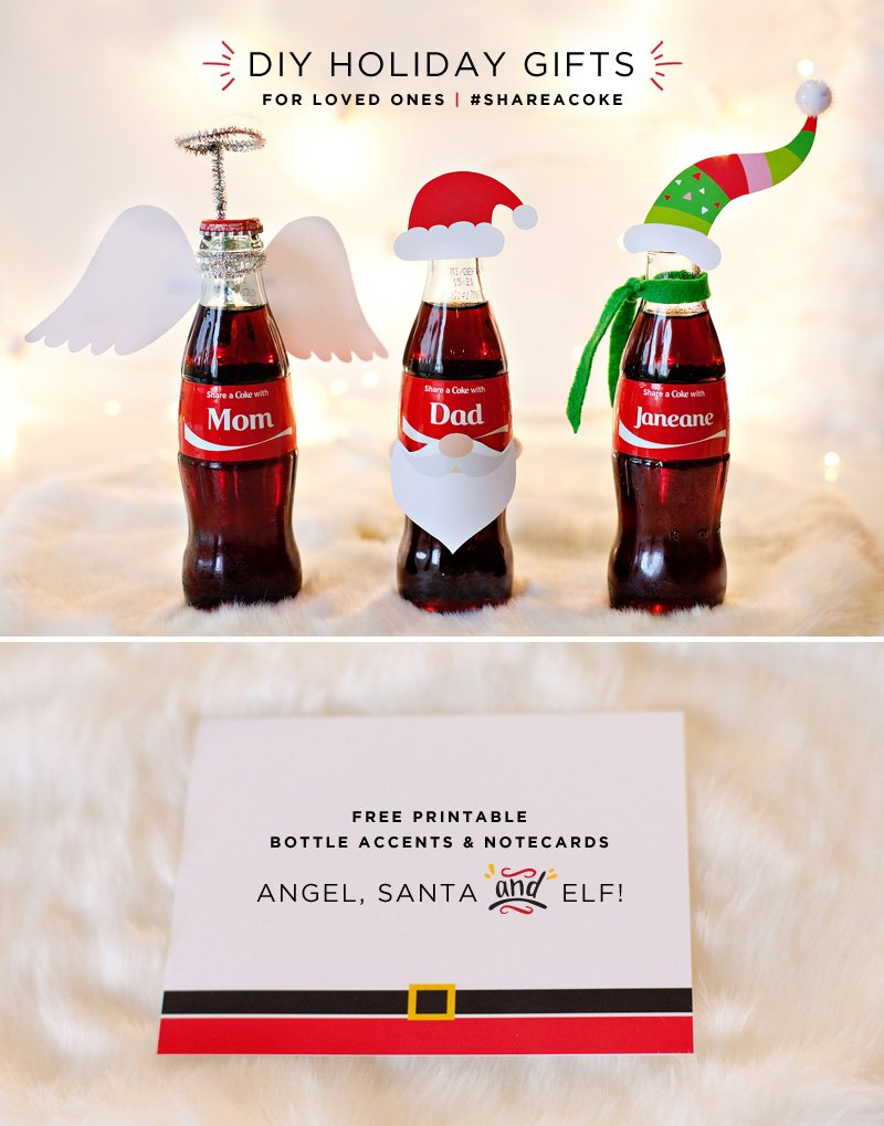 DIY Coca-Cola Holiday Gift Bottles with Free Printables