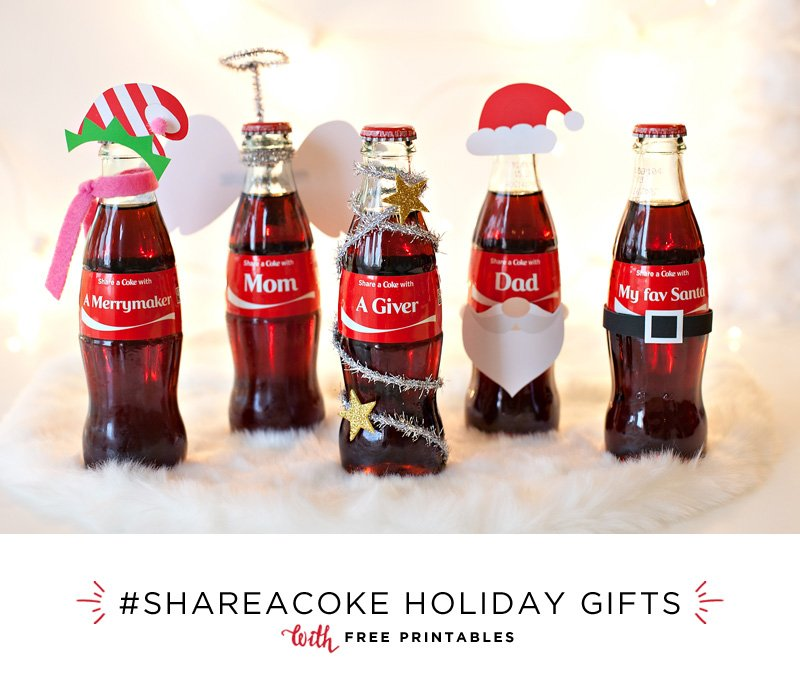 #ShareaCoke Holiday Gift Bottles