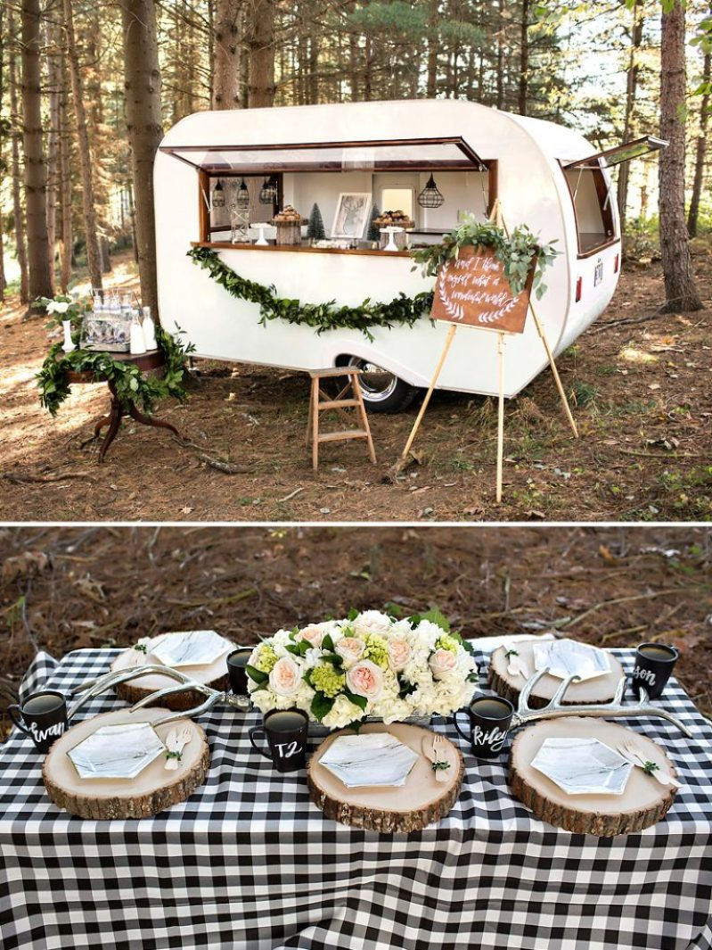 Vintage Camper Christmas and Woodsy Holiday Table