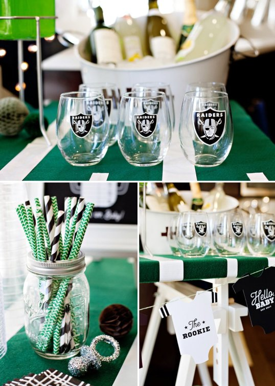 Football baby shower party for boys