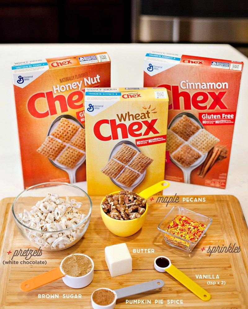 Pumpkin Spice Chex Mix Ingredients