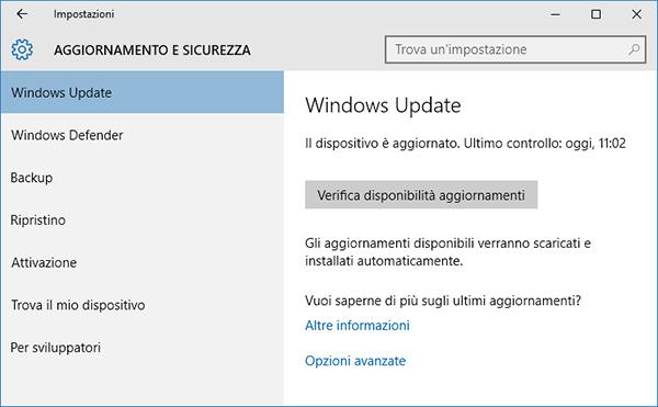 Come installare Windows 10 Anniversary Update