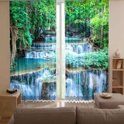 Wood Sofa For Living Room Cheap Package Deals Uk 3d Digital Print Curtains