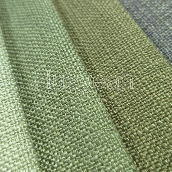 fabric material for sofa 10 seater dimension polyester plain linen like