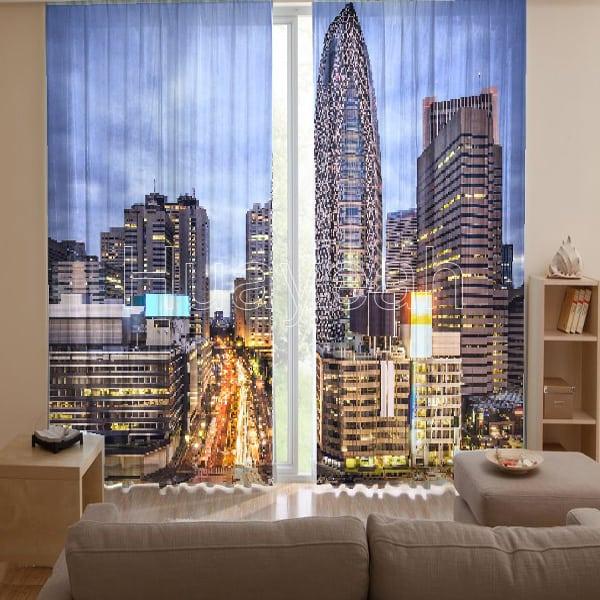 3D Digital Print Curtains