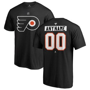 Men's Philadelphia Flyers Fanatics Branded Black Personalized Team Authentic T-Shirt