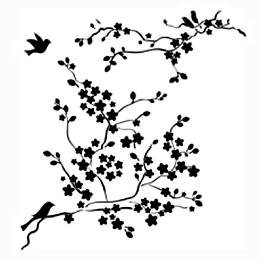 BUY Stencil 12in x 12in Cherry Blossom