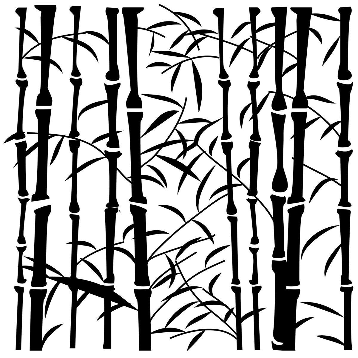 BUY Stencil 12in x 12in Bamboo