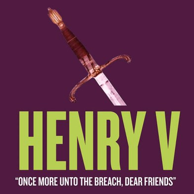 "Folger Theatre promotional image for ""Henry V."""
