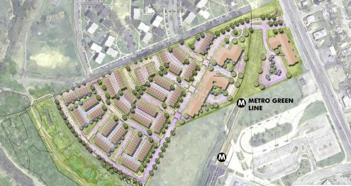 Hyattsville townhomes West Metro station housing houses homes