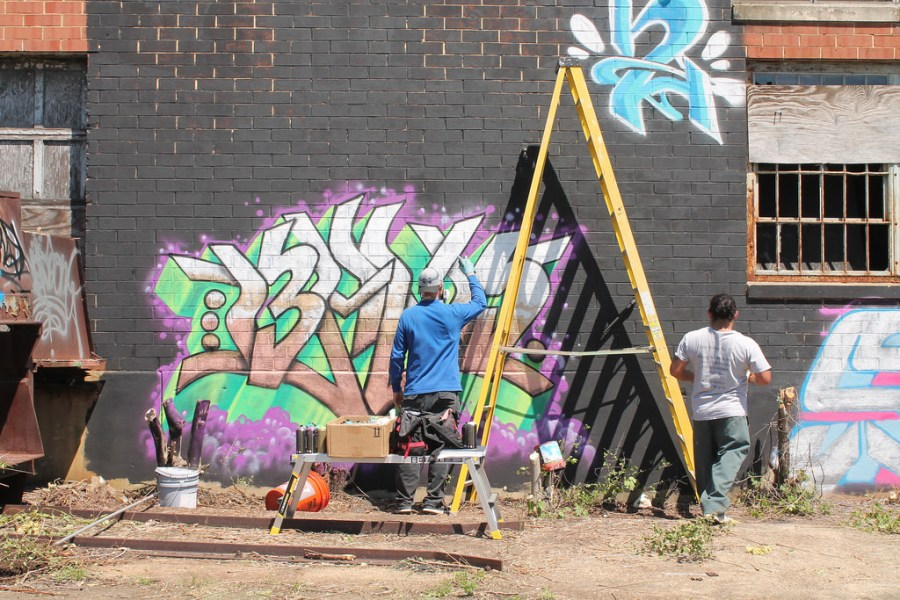 Hyattsville graffiti art Ginn's Warehouse