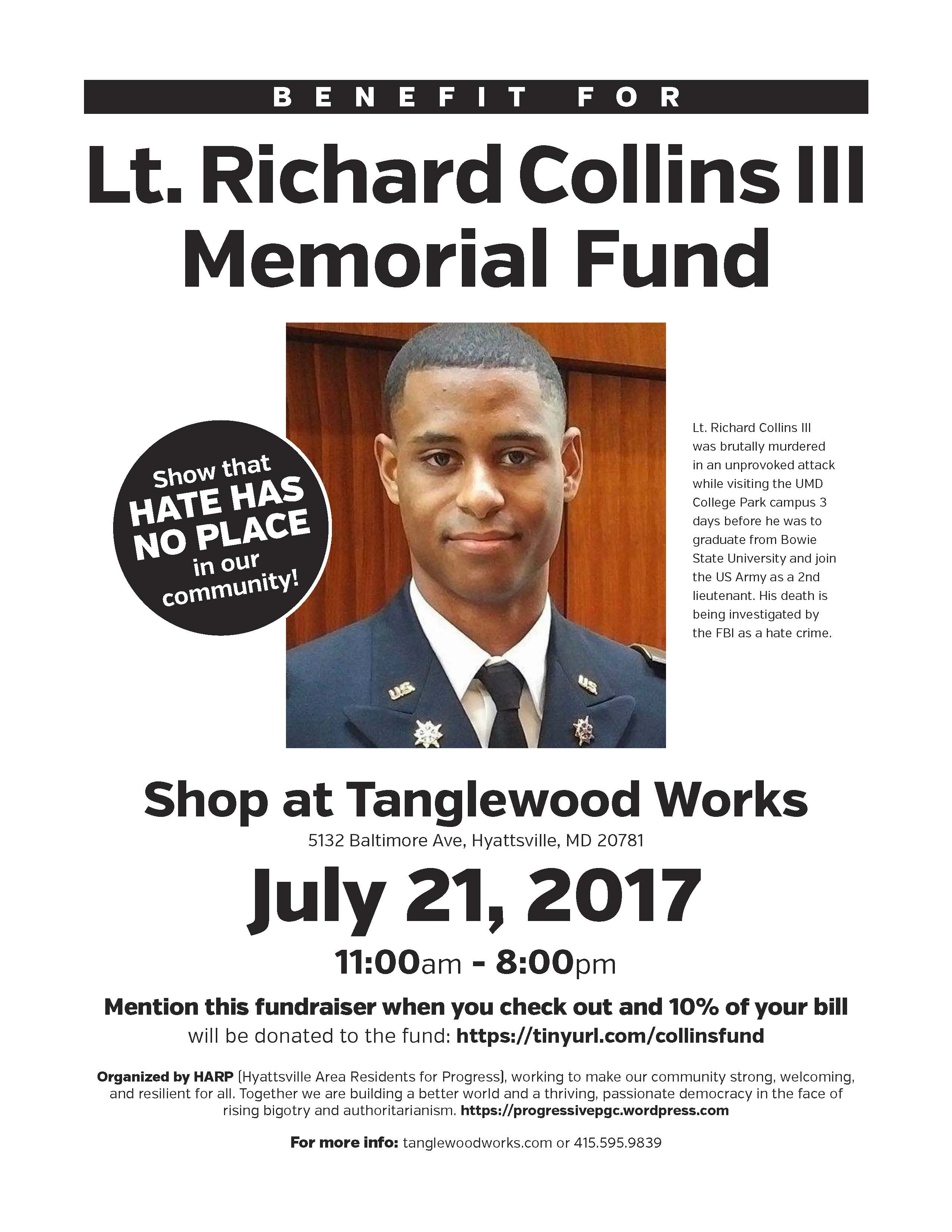 fundraiser for richard collins iii at tanglewood works