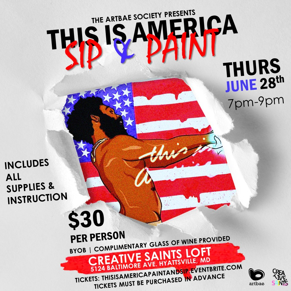 This Is America Sip Paint