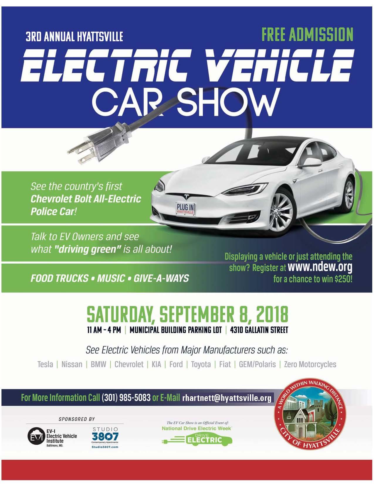 Hyattsvilles 3rd Annual Electric Vehicle Car Show