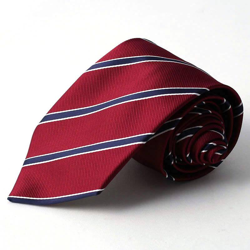 赤 ストライプ ネクタイ