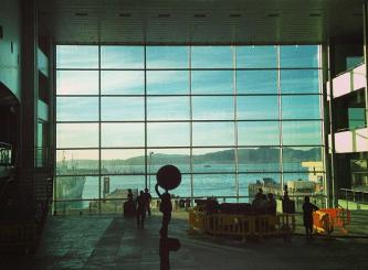 Auditorio del mar (Vigo), horas antes del concierto.