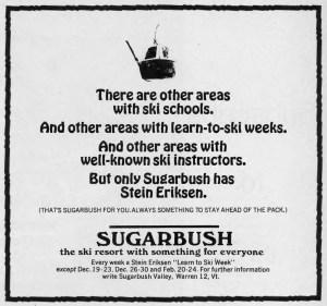 Sugarbush Ad - Winter 1967
