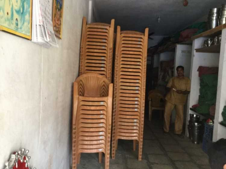 steel chair for tent house baby bouncing material suppliers items price list hyderabad welcome