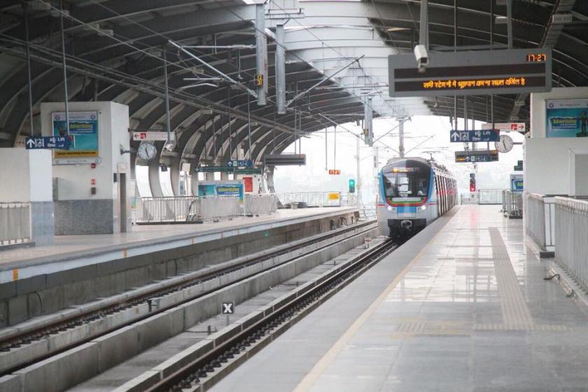 HMR, Hyderabad Metro Rail,Hyderabad Metro Rail Station,Miyapur Metro Rail Station