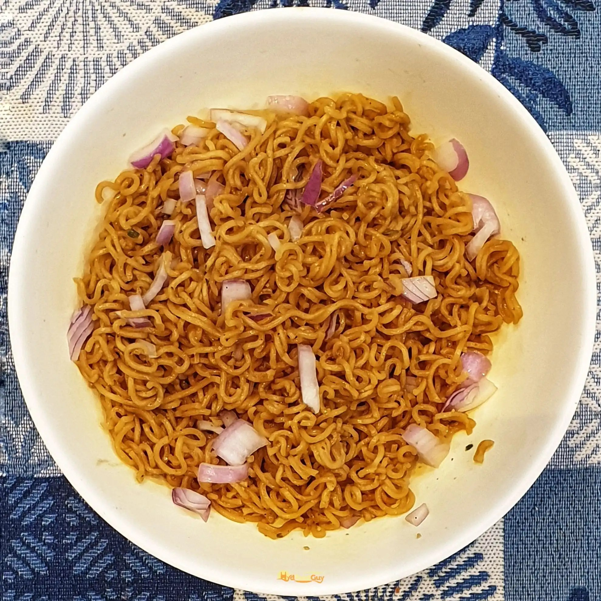 Wai Wai Noodles with Onions