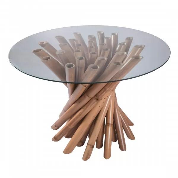 harta table a manger ronde en bambou d120