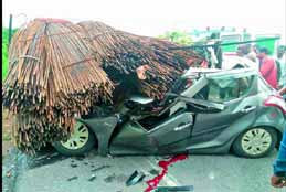 Two killed As Car Rams Parked truck In Hyderabad